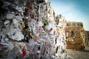 Photo de blocs de déchets